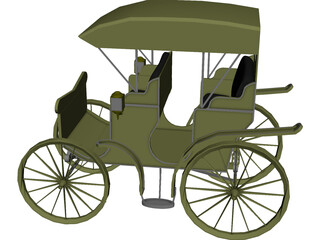 Carriage Surrey 3D Model