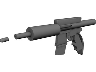 Assault Rifle 3D Model