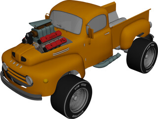 Ford Pickup [Supercharged] 3D Model