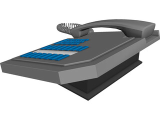 Office Phone Set 3D Model