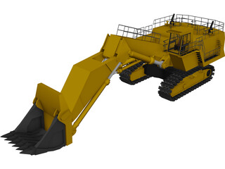 Hitachi EX5500 Dig Machine 3D Model