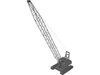 Crane Crawler 3D Model 3D Preview
