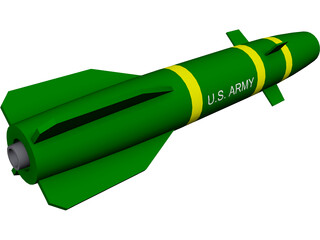 Hellfire Missile 3D Model 3D Preview
