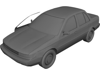 Mitsubishi Mirage (1990) 3D Model