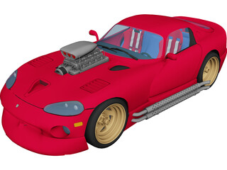 Dodge Viper [Supercharged] 3D Model 3D Preview