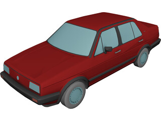 Volkswagen Jetta (1987) [+Interior] 3D Model