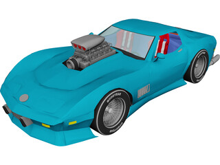 Chevrolet Corvette (1979) [Supercharged] 3D Model
