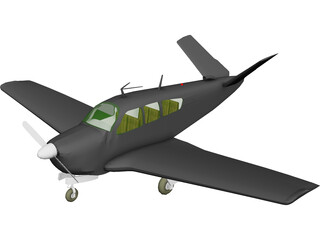 Beechcraft V35 Bonanza 3D Model