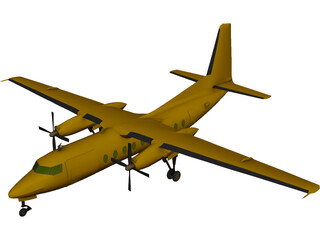 Fokker F27 Friendship 3D Model
