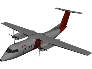 Bombardier Q200 Customs 3D Model