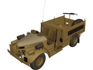 Long Range Desert Group Truck 3D Model