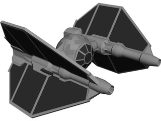 Star Wars T-Invader 3D Model