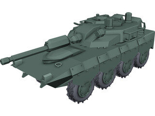 Armoured Car 8x8 3D Model 3D Preview