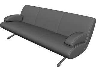 Sofa Cushioned 3D Model