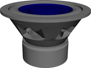 Speaker (Single Voice Coils Subwoofer) 3D Model