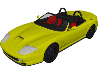 Ferrari 550 Barchetta (2000) 3D Model