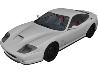 Ferrari 575M Maranello (2002) 3D Model 3D Preview