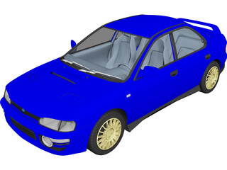 Subaru Impreza WRX GT Turbo (1998) 3D Model