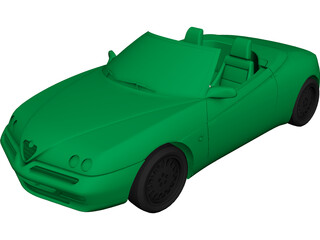 Alfa Romeo Spider (1995) 3D Model