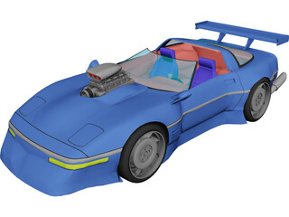 Chevrolet Corvette ZR1 [Supercharged] 3D Model