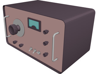 Radio Fifties 3D Model 3D Preview