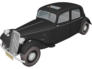 Citroen Traction Avant (1954) 3D Model