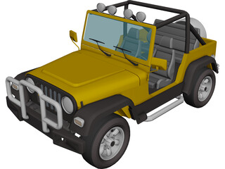 Jeep Wrangler (1995) 3D Model 3D Preview