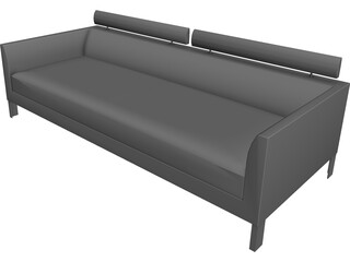 Sofa Axium 3D Model 3D Preview