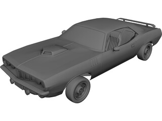 Dodge Muscle Car (1970) 3D Model