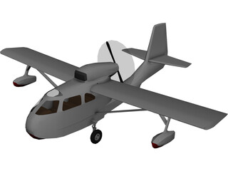 Republic RC-3 Seabee Amphibian 3D Model