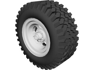 Tire All-Terrain 3D Model