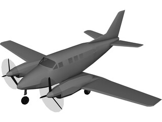 Beechcraft Super King Air 100 3D Model