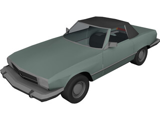 Mercedes-Benz 380 SL (1968) 3D Model