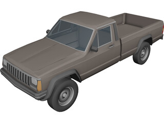Jeep Cherokee Pickup 3D Model