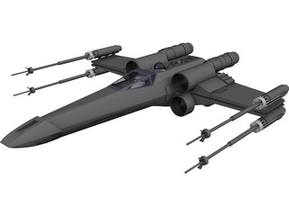 Star Wars X-Wing Starfighter 3D Model