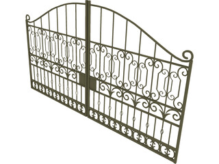 Iron Gate 3D Model 3D Preview