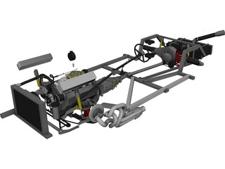 Chassis [+V8 Engine] 3D Model