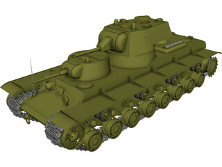 Russian SMK Heavy Tank 3D Model