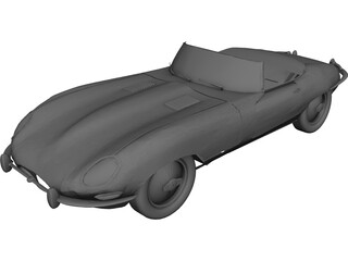 Jaguar XKE Roadster 3D Model