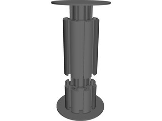 Octanorm M100 Connector 3D Model