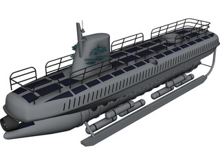Atlantis Tour Submarine 3D Model