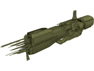 Starship Sulaco 3D Model 3D Preview