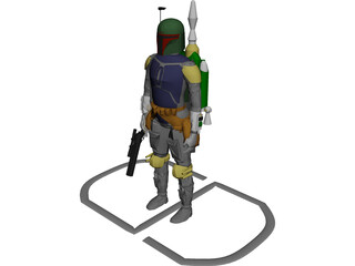 Star Wars Bobafett 3D Model