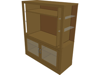 Entertainment Center [+Glass Shelves] 3D Model