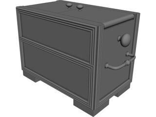 Asian Style Box 3D Model