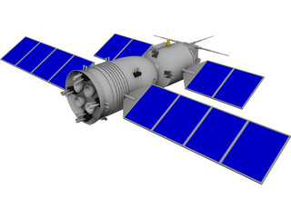 Shenzhou Chinese Spacecraft 3D Model