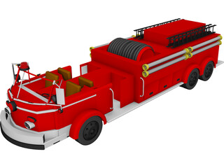 Fire Engine 3D Model