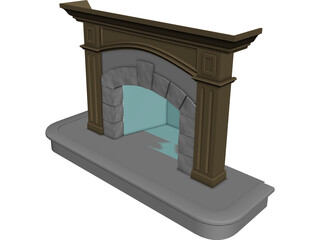 Fireplace 3D Model 3D Preview