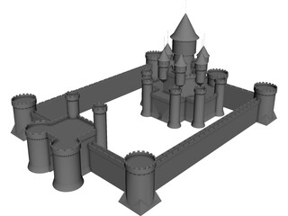 Castle Fantasy 3D Model