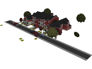 Building Apartment Mid Western 3D Model